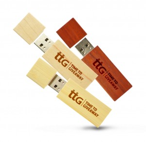 Time To Giveaway Wooden stick usb