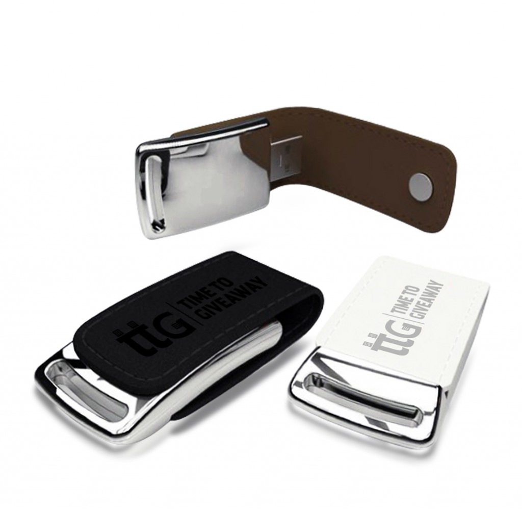 Leather USB-Flip