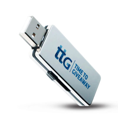 Time To Giveaway Metal Slide USB-2