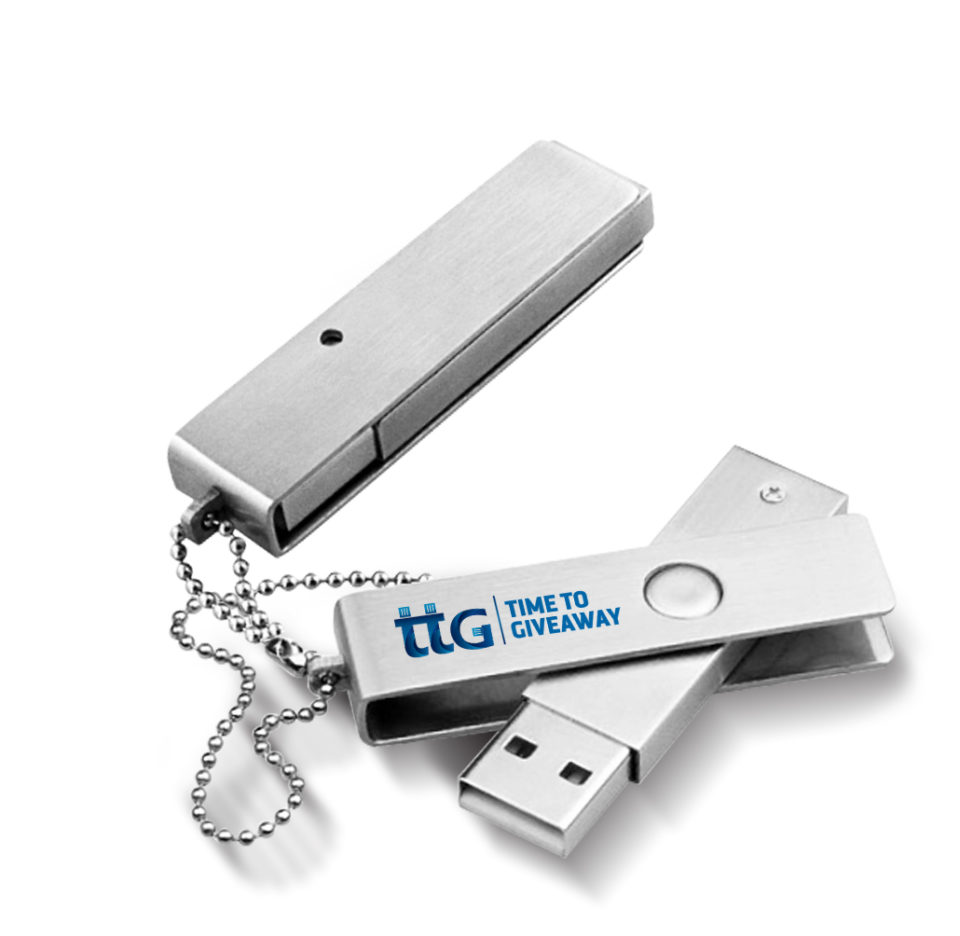 Time To Giveaway Metal Swivel USB