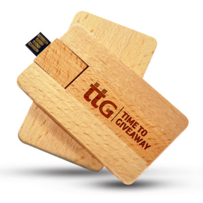 Time To Giveaway Wooden card usb