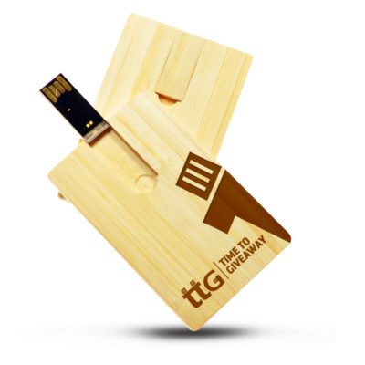 Time To Giveaway Wooden card usb2