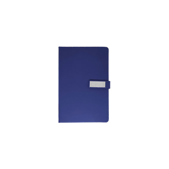 Time-To-Giveaway-navy-blue-metal-plaque-notebook