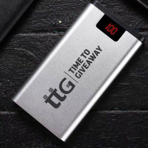 Time To Giveaway Metal LED 8000 mAh Power Bank